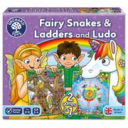 Fairy Snakes & Ladders & Ludo Board Game